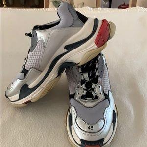 Balenciaga Red men Triple S sneakers